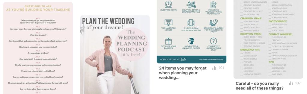 wedding day timeline