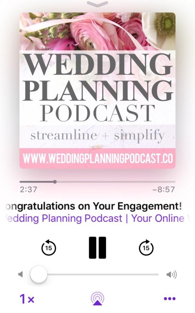 get started wedding planning podcast